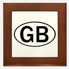 GREAT BRITAIN OVAL STICKERS & Framed Tile