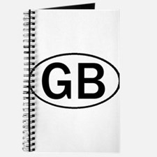 GREAT BRITAIN OVAL STICKERS & Journal