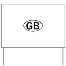 GREAT BRITAIN OVAL STICKERS & Yard Sign