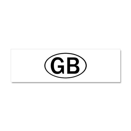 GREAT BRITAIN OVAL STICKERS & Car Magnet 10 x 3