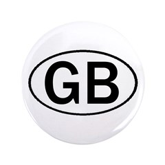 GREAT BRITAIN OVAL STICKERS & 3.5