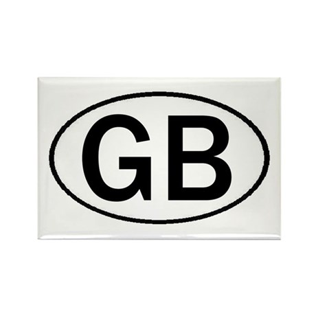 GREAT BRITAIN OVAL STICKERS & Rectangle Magnet (10