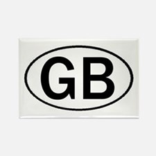 GREAT BRITAIN OVAL STICKERS & Rectangle Magnet