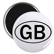 GREAT BRITAIN OVAL STICKERS & Magnet