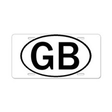 GREAT BRITAIN OVAL STICKERS & Aluminum License Pla