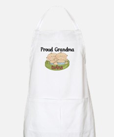 Proud Grandma Twins Apron