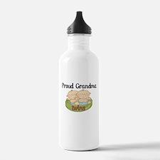 Proud Grandma Twins Water Bottle