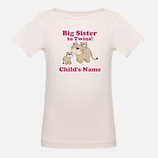 Big Sister to twins Tee