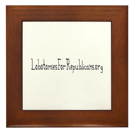 Lobotomies Framed Tile