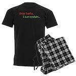 Dear Santa I Can Explain Men's Dark Pajamas