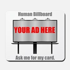 Human Billboard Mousepad