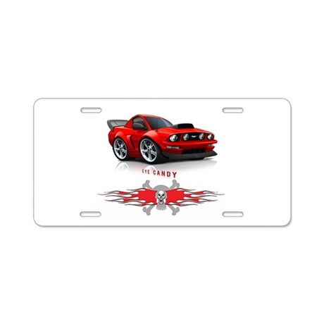 Eye Candy Aluminum License Plate
