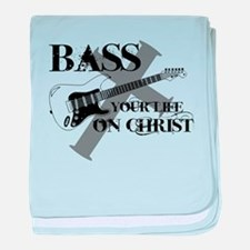 Bass your life on Christ baby blanket