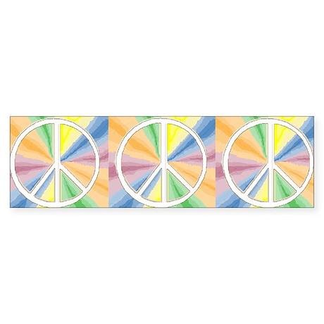Tie Dyed Peace Symbol Bumper Sticker
