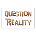 Question Reality Rectangle Sticker