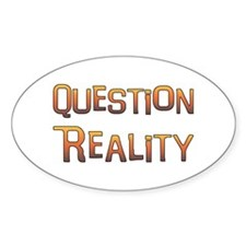 Question Reality Oval Decal