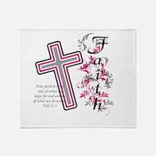 Faith with cross Throw Blanket