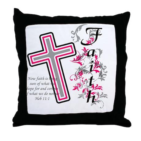 Faith with cross Throw Pillow