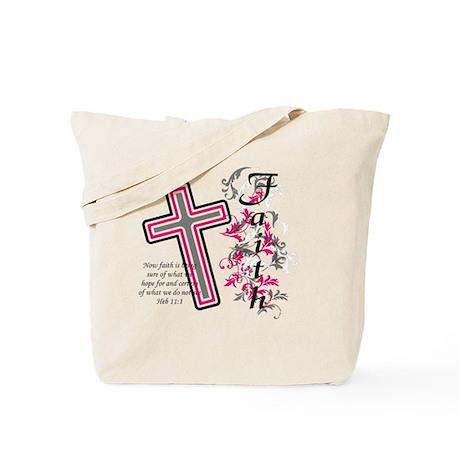 Faith with cross Tote Bag