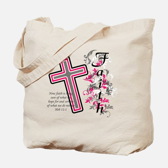 Faith with cross Tote Bag