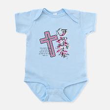 Faith with cross Infant Bodysuit