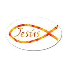 Jesús 22x14 Oval Wall Peel