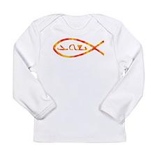 Aramaic Jesus Fish Long Sleeve Infant T-Shirt