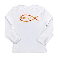 Malayalam Jesus Fish Long Sleeve Infant T-Shirt