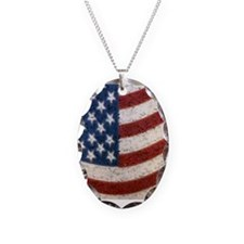 Vintage American Flag Necklace
