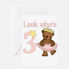 Look who's 3 Greeting Card