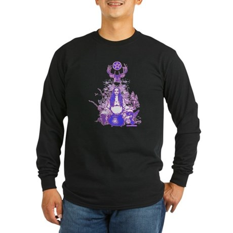Purple Gaia Long Sleeve Dark T-Shirt