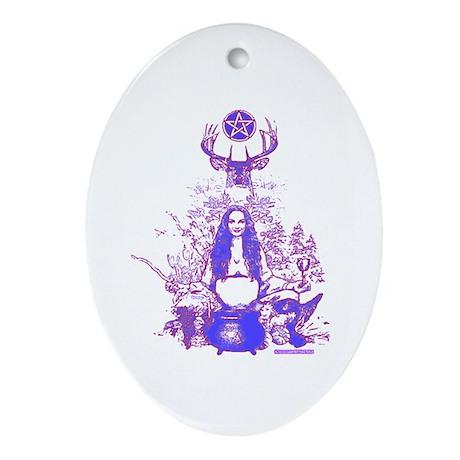 Purple Gaia Ornament (Oval)