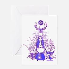 Purple Gaia Greeting Card