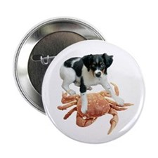 """Puppy with Crab 2.25"""" Button"""