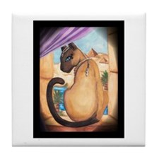 Cute Egyptian cat Tile Coaster