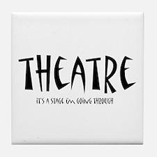 Funny Theatre Tile Coaster