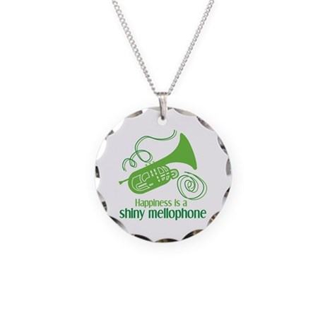 Shiny Mellophone Necklace Circle Charm