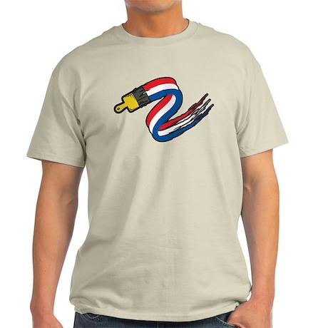 Patriotic Paintbrush Light T-Shirt