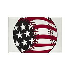 Flag Baseball Rectangle Magnet (100 pack)