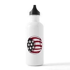 Flag Baseball Water Bottle
