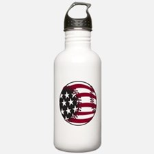 Flag Baseball Water Bottle