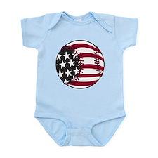 Flag Baseball Infant Bodysuit