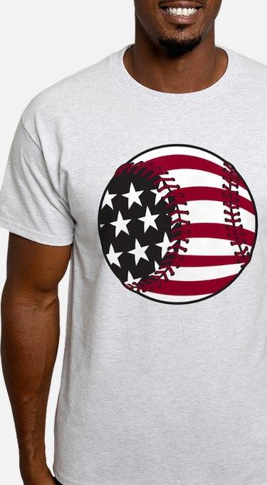 Flag Baseball T-Shirt