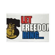Let Freedom Ring Rectangle Magnet
