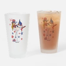 4th of July Martini Girl Pint Glass