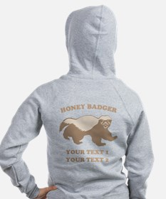 Personalize Honey Badger Zip Hoodie