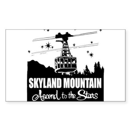 Skyland Mountain Souvenir Sticker (Rectangle)