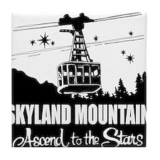 Skyland Mountain Souvenir Tile Coaster