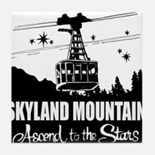Skyland Mountain Souvenir Tile Coaster