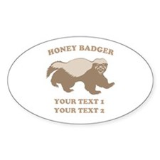 Personalize Honey Badger Decal
